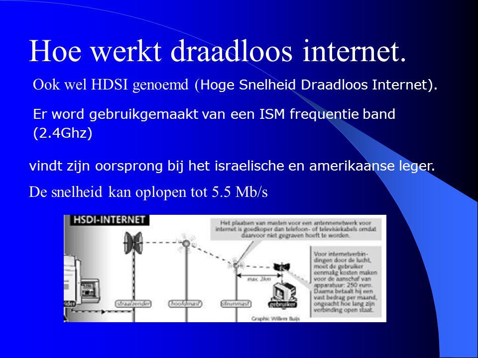 Hoe werkt draadloos internet.