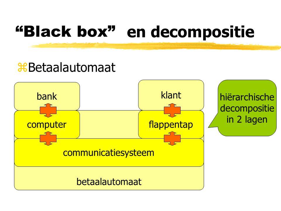 Black box en decompositie Betaalautomaat klant hiërarchische