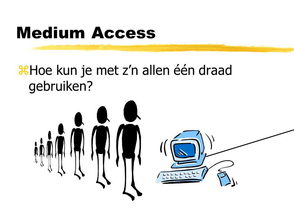 Medium Access Hoe kun je met z'n allen één draad gebruiken