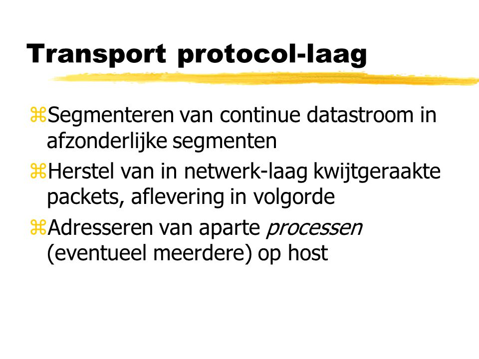 Transport protocol-laag