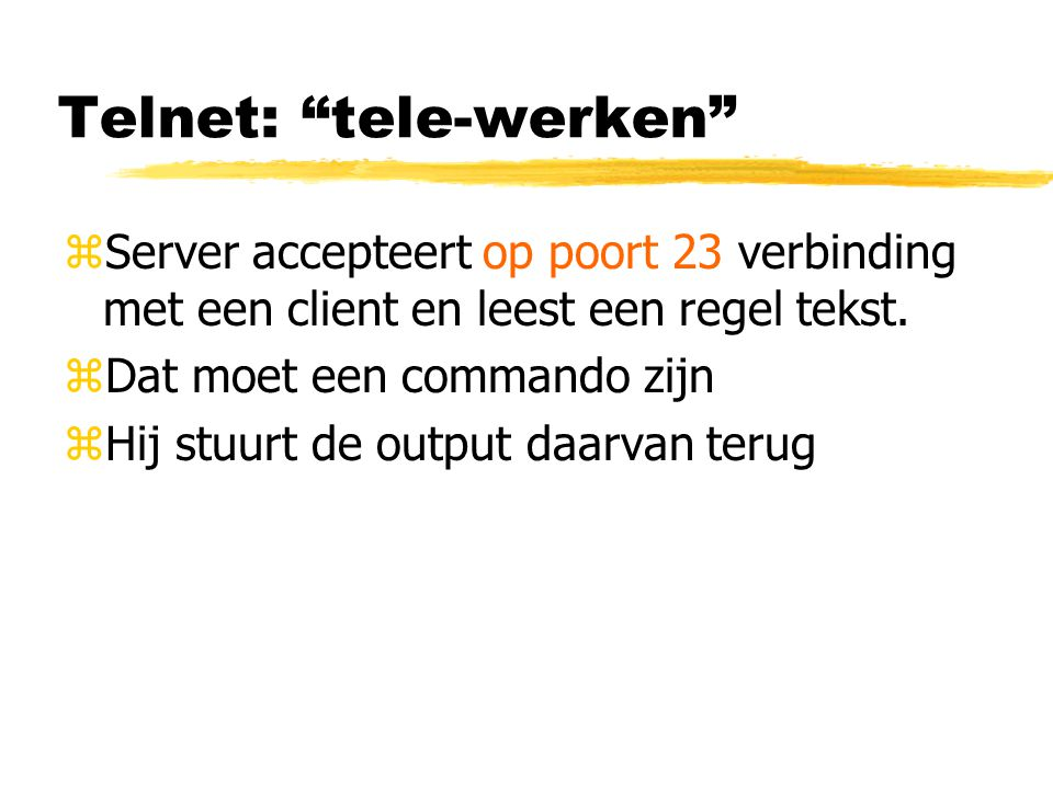 Telnet: tele-werken