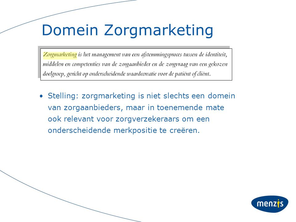 Domein Zorgmarketing