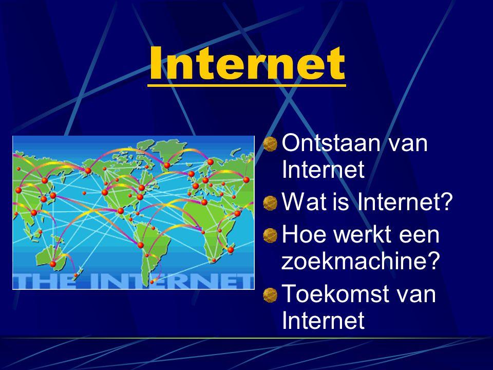 Internet Ontstaan van Internet Wat is Internet