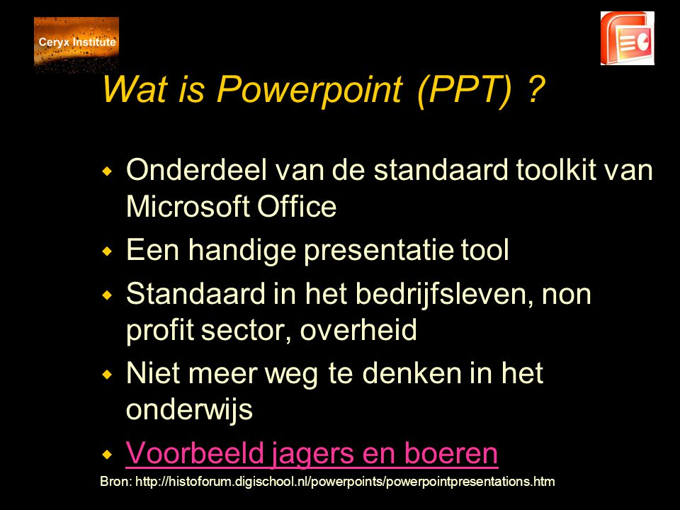 Wat is Powerpoint (PPT)