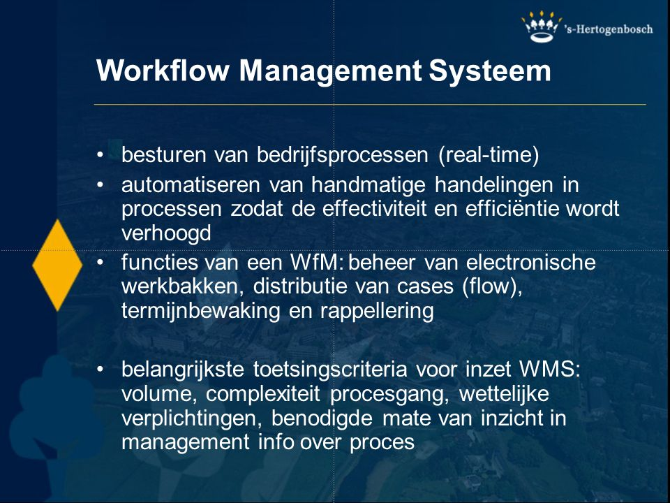 Workflow Management Systeem