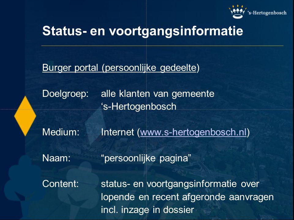 Status- en voortgangsinformatie