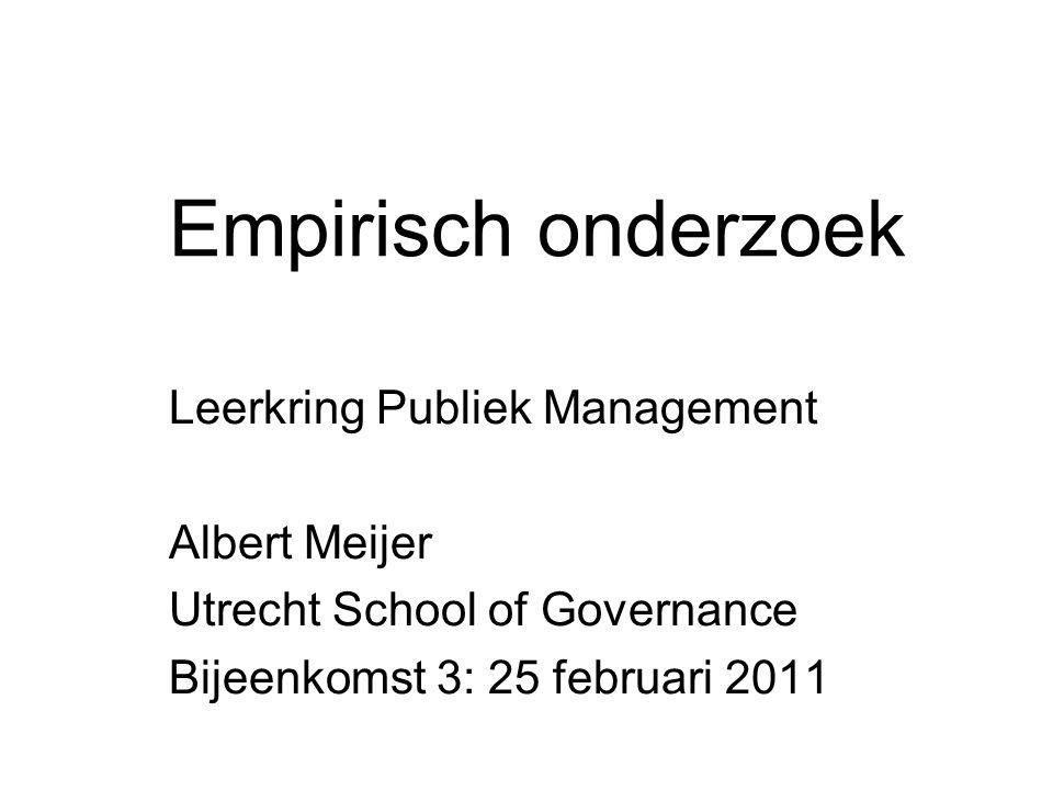 Empirisch onderzoek Leerkring Publiek Management Albert Meijer
