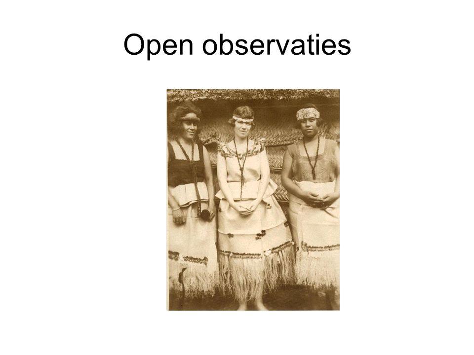 Open observaties