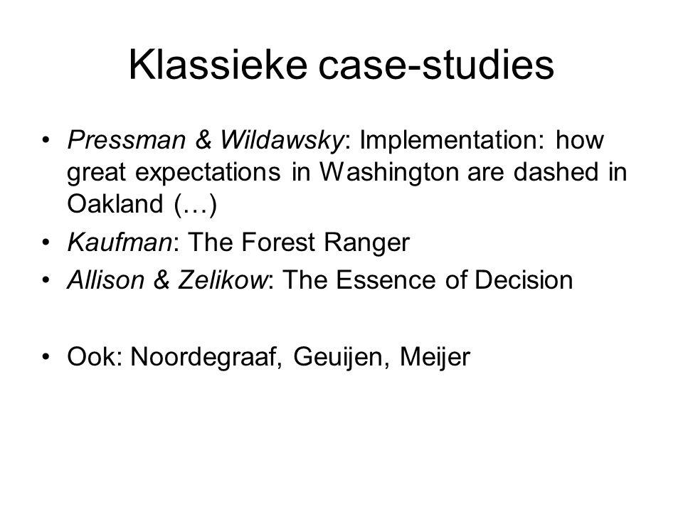 Klassieke case-studies
