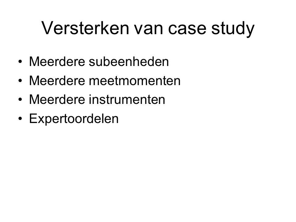 Versterken van case study