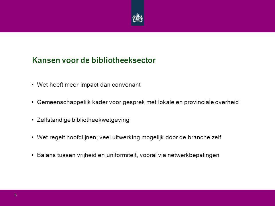 Kansen voor de bibliotheeksector