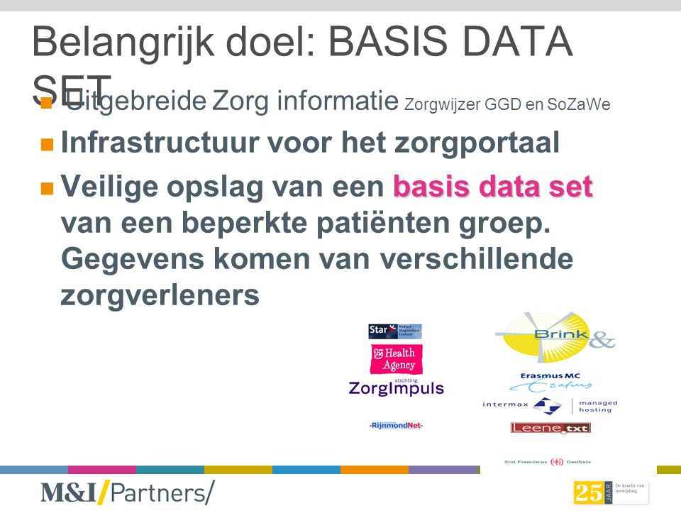 Belangrijk doel: BASIS DATA SET