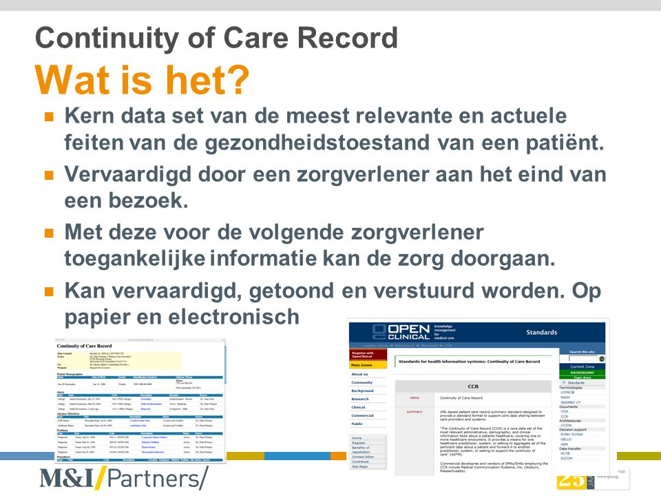 Continuity of Care Record Wat is het
