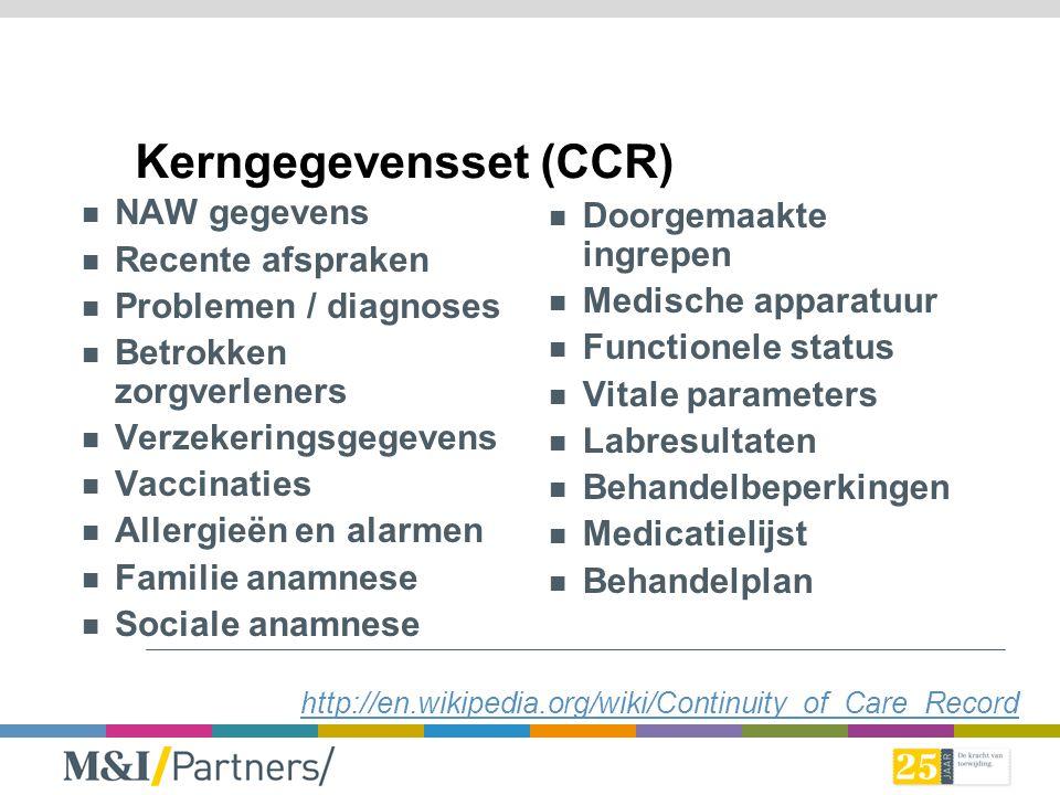 Kerngegevensset (CCR)