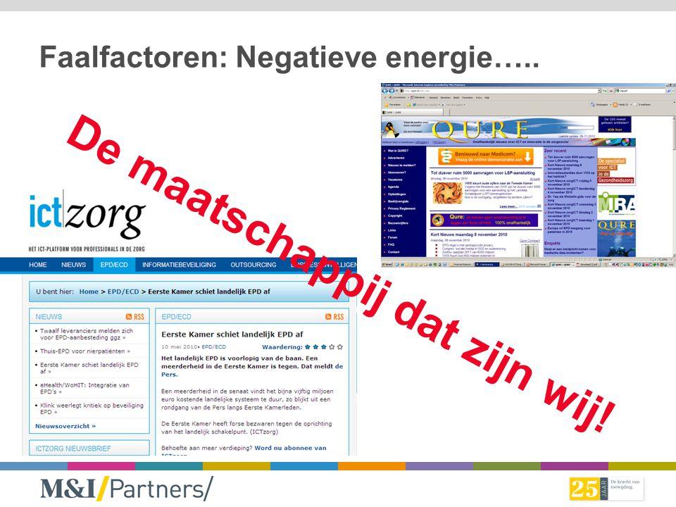 Faalfactoren: Negatieve energie…..