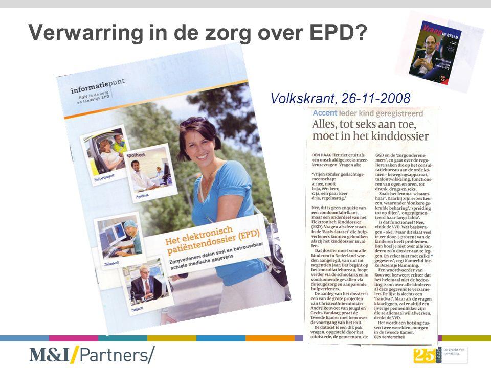 Verwarring in de zorg over EPD