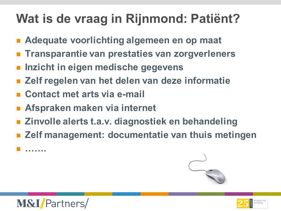 Wat is de vraag in Rijnmond: Patiënt