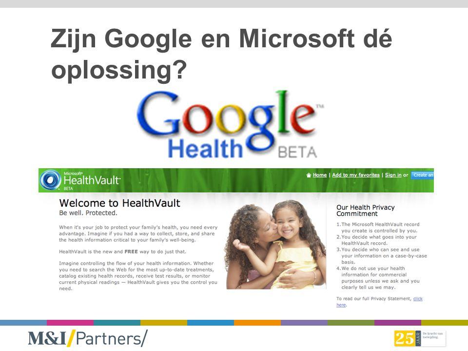 Zijn Google en Microsoft dé oplossing