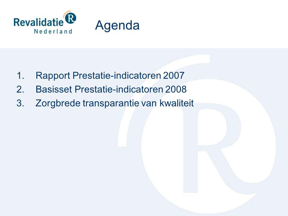 Agenda Rapport Prestatie-indicatoren 2007