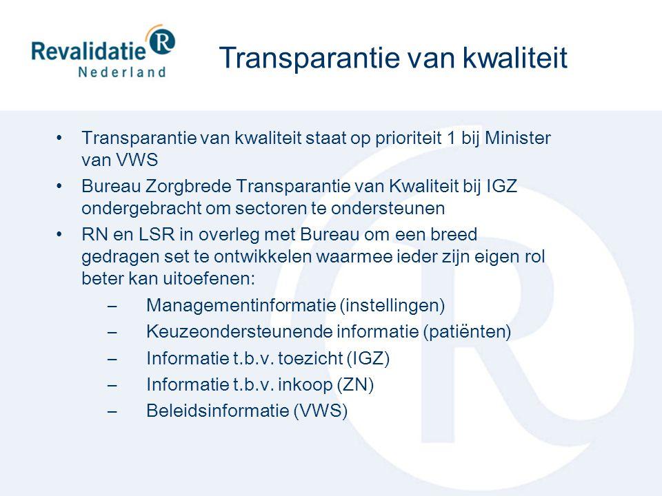 Transparantie van kwaliteit