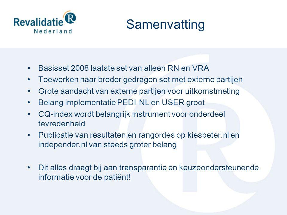 Samenvatting Basisset 2008 laatste set van alleen RN en VRA