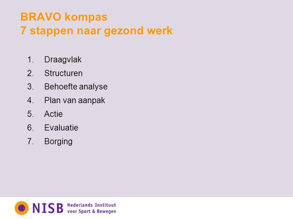 BRAVO kompas 7 stappen naar gezond werk