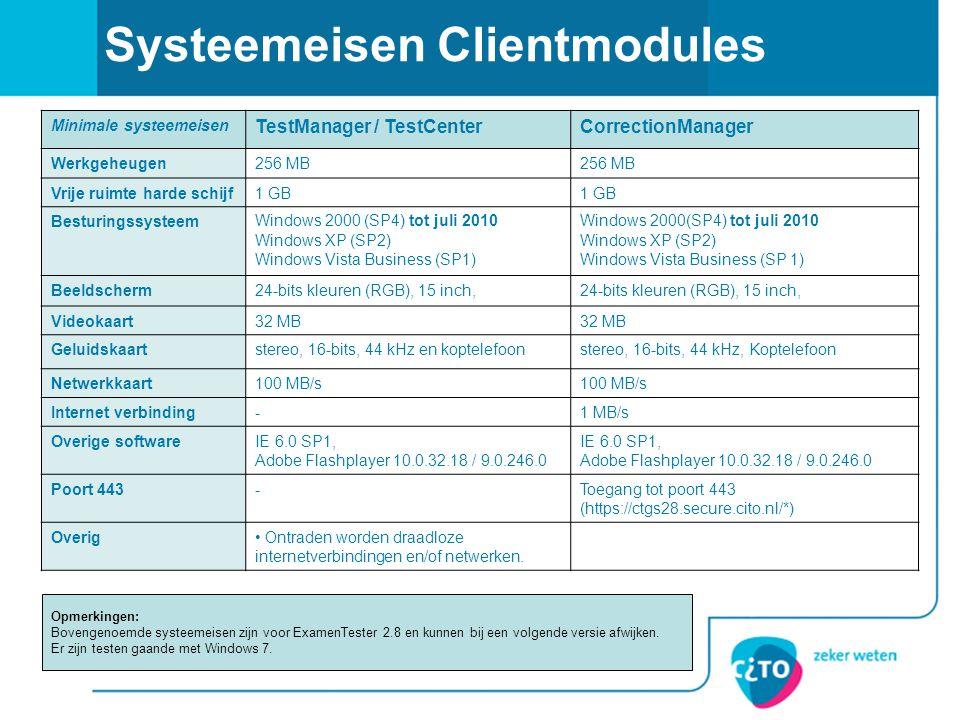 Systeemeisen Clientmodules