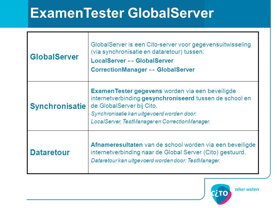 ExamenTester GlobalServer