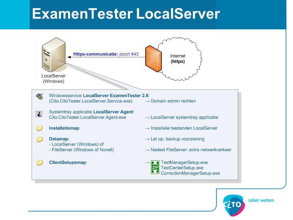 ExamenTester LocalServer