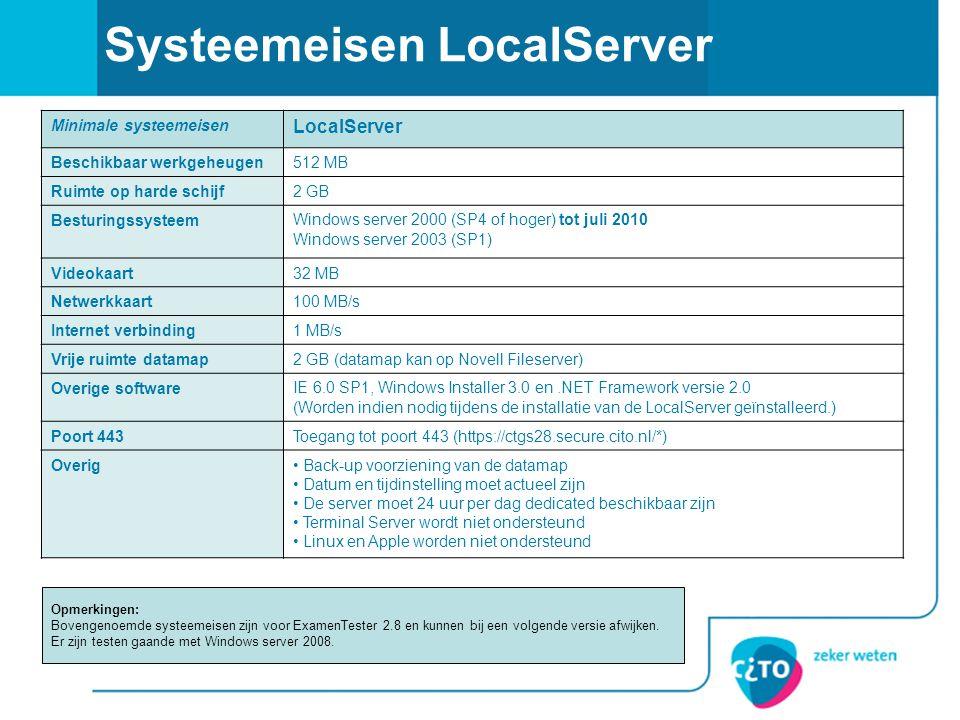 Systeemeisen LocalServer