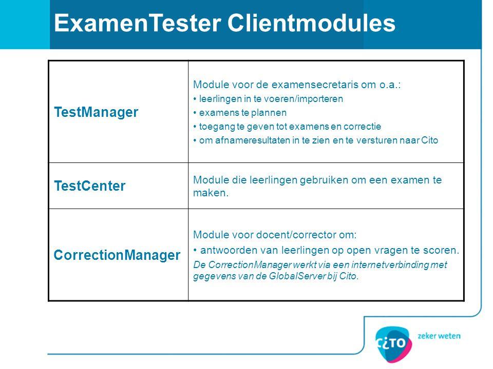 ExamenTester Clientmodules