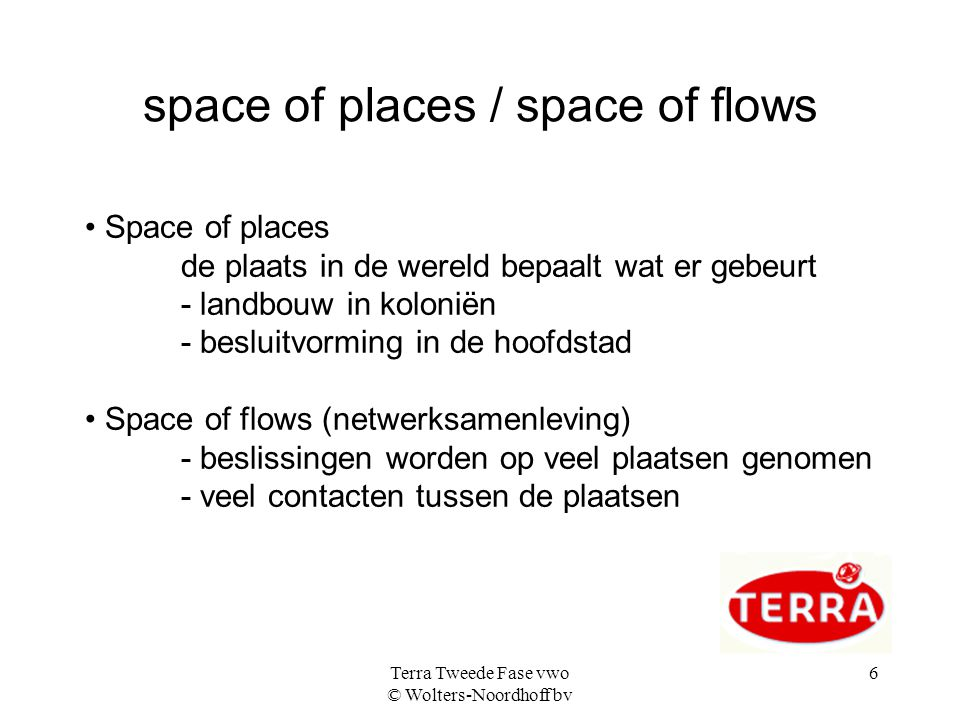 space of places / space of flows