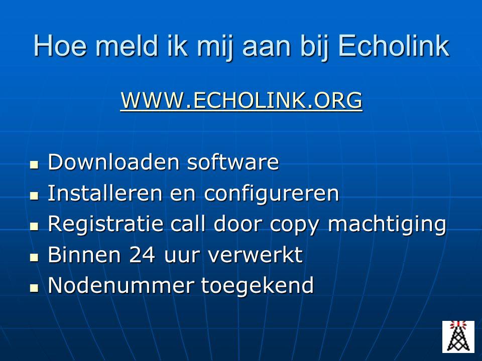 Hoe meld ik mij aan bij Echolink