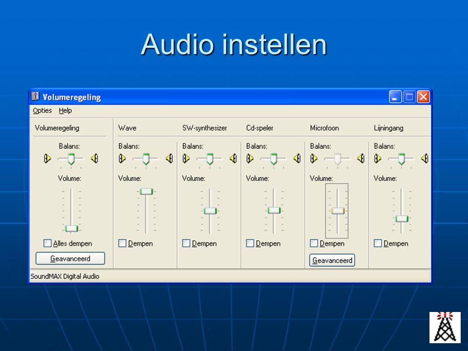 Audio instellen