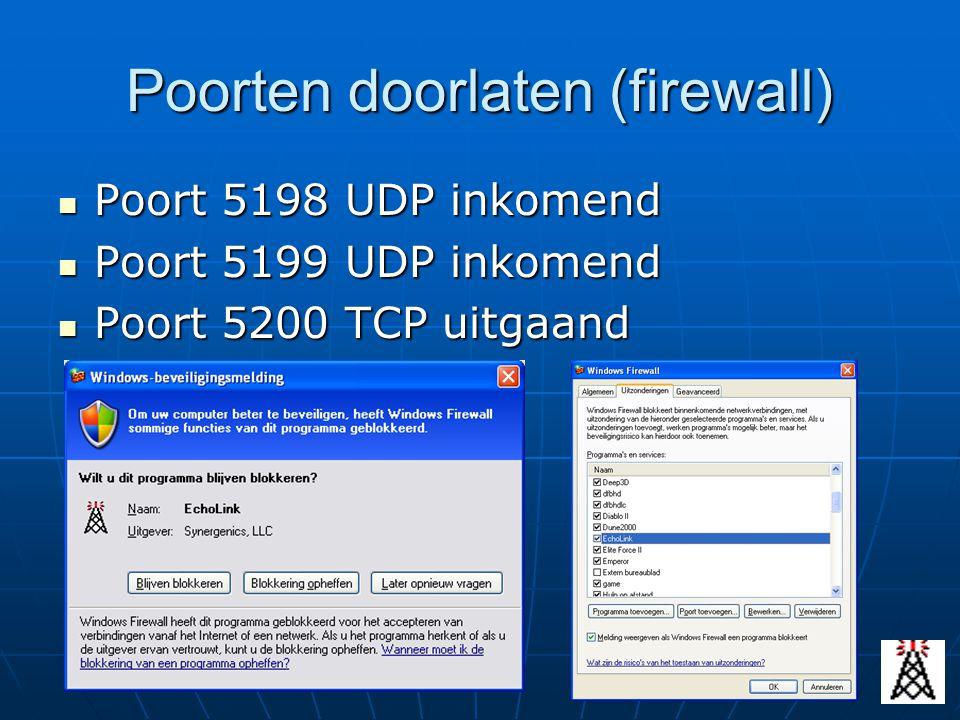 Poorten doorlaten (firewall)