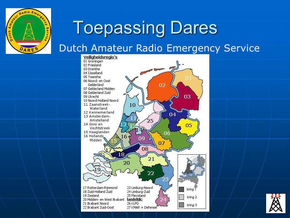 Toepassing Dares Dutch Amateur Radio Emergency Service