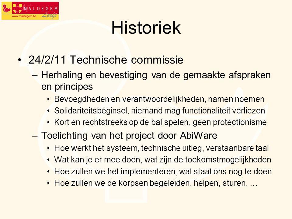 Historiek 24/2/11 Technische commissie