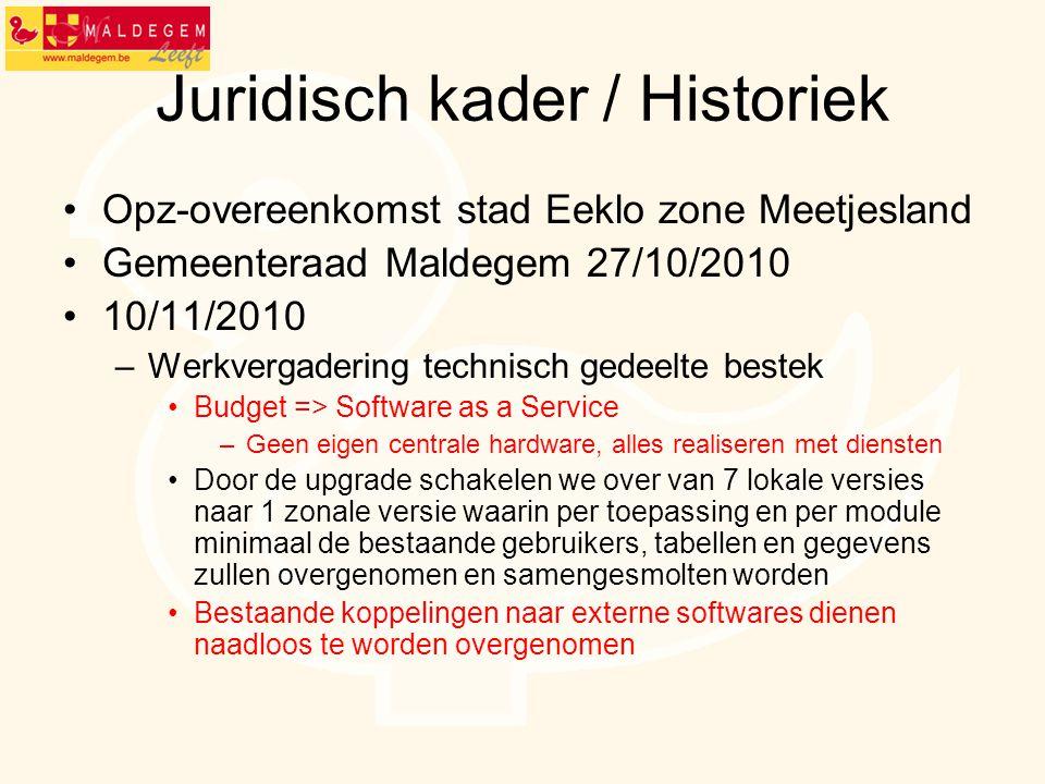 Juridisch kader / Historiek