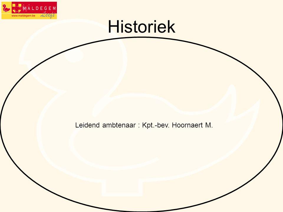 Historiek Leidend ambtenaar : Kpt.-bev. Hoornaert M.