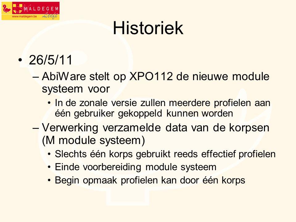 Historiek 26/5/11. AbiWare stelt op XPO112 de nieuwe module systeem voor.