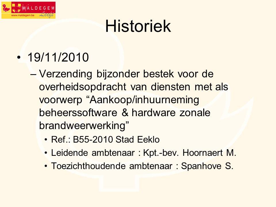 Historiek 19/11/2010.