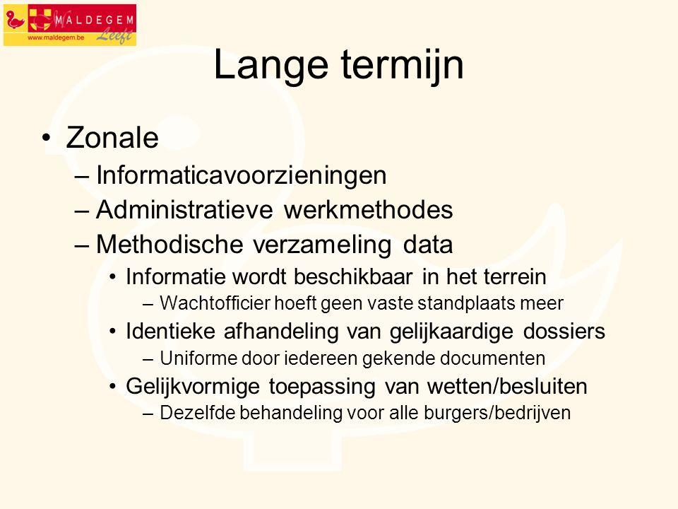 Lange termijn Zonale Informaticavoorzieningen