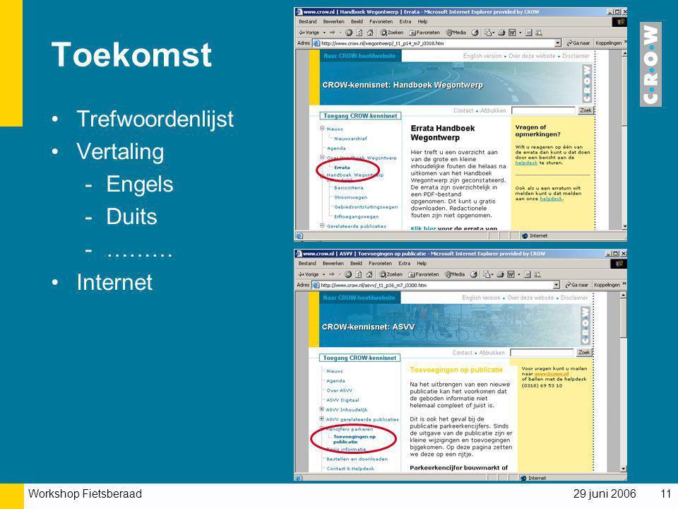Toekomst Trefwoordenlijst Vertaling Engels Duits ……… Internet
