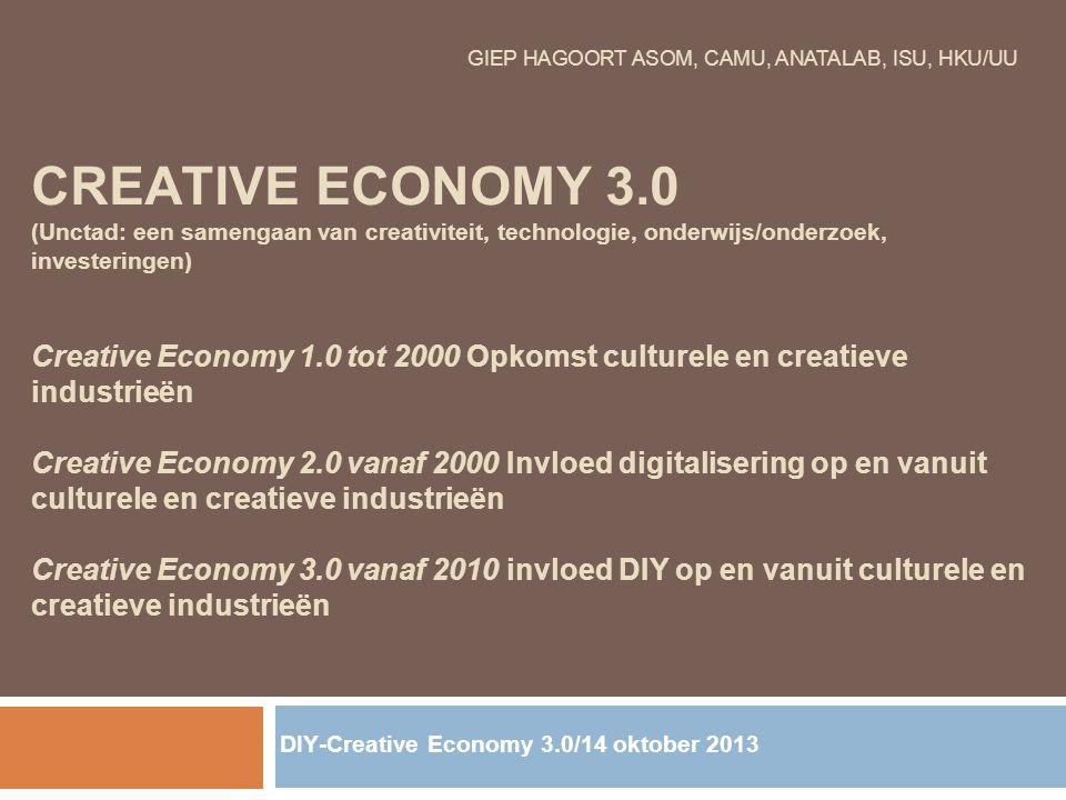 DIY-Creative Economy 3.0/14 oktober 2013
