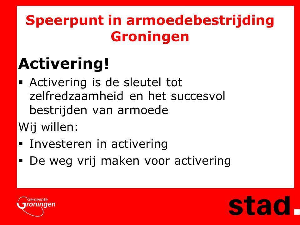 Speerpunt in armoedebestrijding Groningen