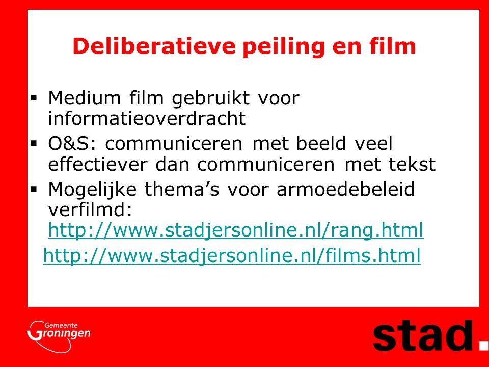 Deliberatieve peiling en film
