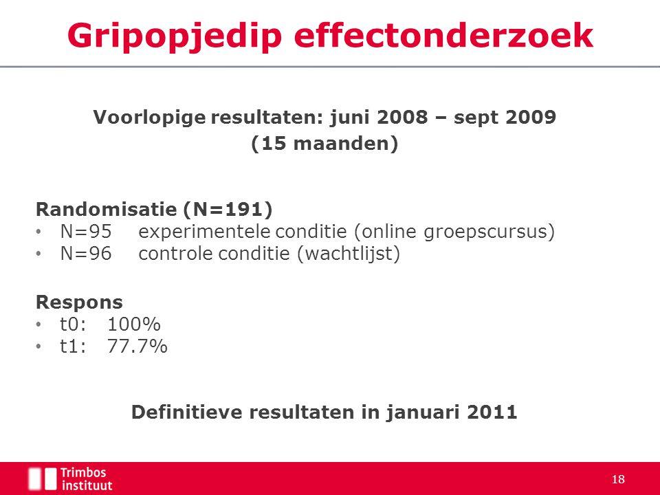 Gripopjedip effectonderzoek