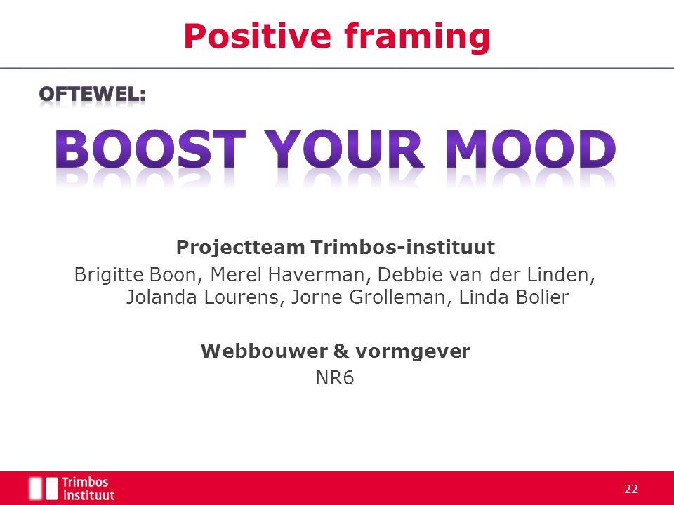 Projectteam Trimbos-instituut