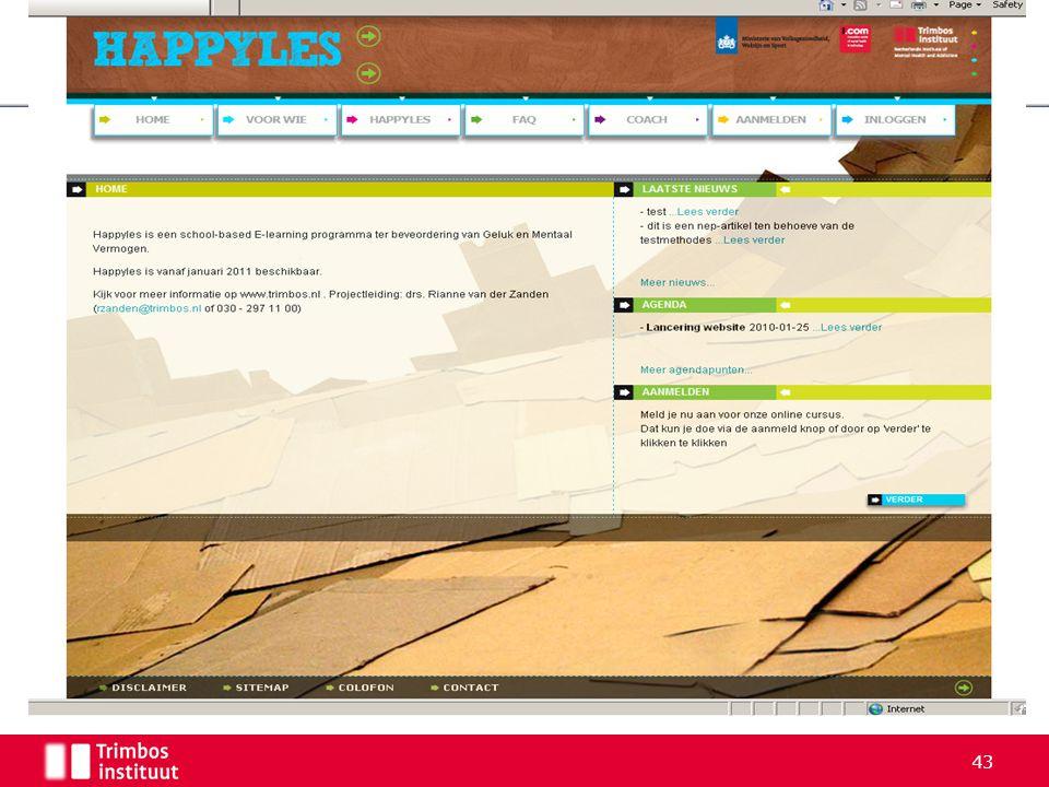 4-4-2017 Daarom is Happyles ontwikkeld. Dit is een screenshot van de homepage.
