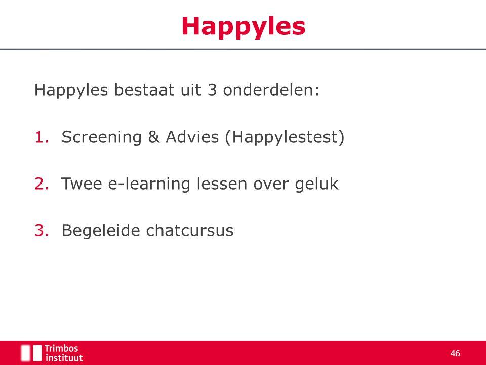 Happyles Happyles bestaat uit 3 onderdelen: